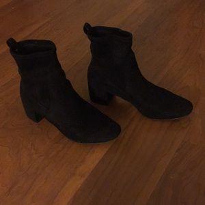 Aldo Black Suede Ankle Boots